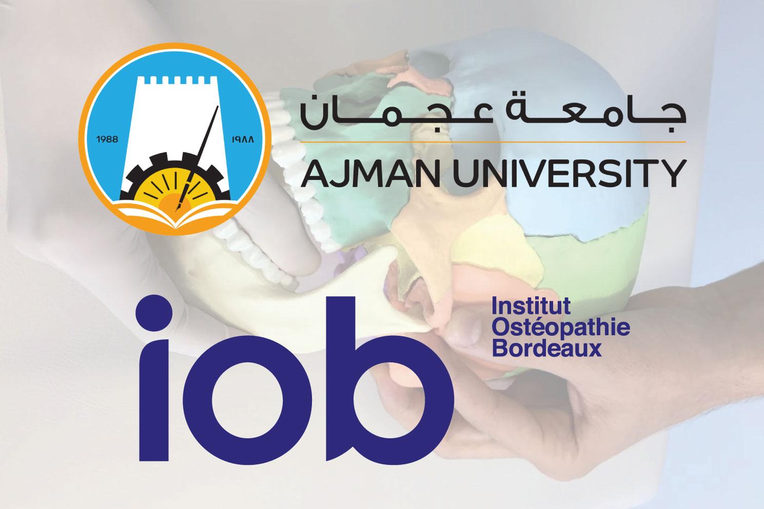 IOB-ecole-osteopathie-bordeaux-partenariat-ajman-university-dubai